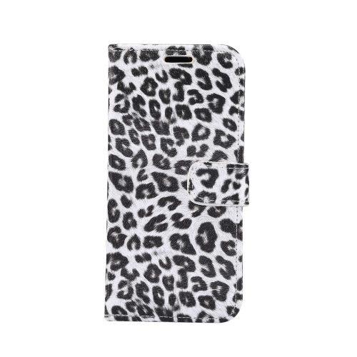 Wallet Case met luipaardprint voor iPhone 11 – Wit