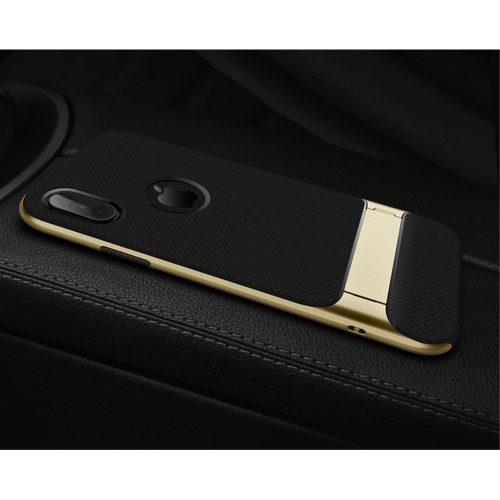 Rock Royce Case met kickstand voor iPhone X – Goud