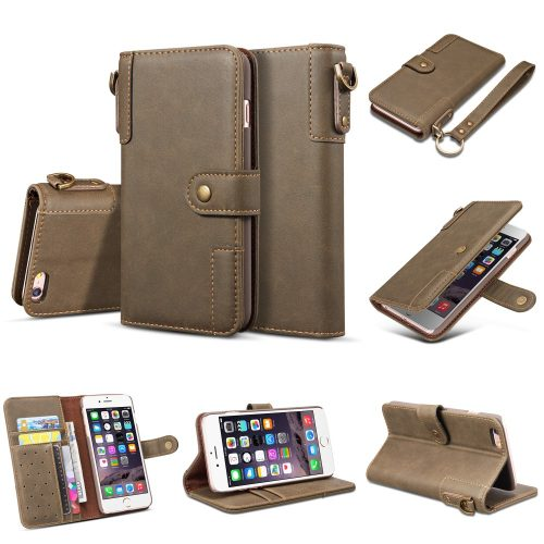 Retro Wallet Case voor iPhone SE (2020) iPhone 7 /8 – grijs
