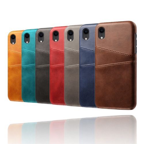Leather Coated Case met 2 vakjes voor iPhone XR