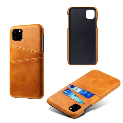 Leather Coated Case met 2 vakjes voor iPhone 11 Pro Max