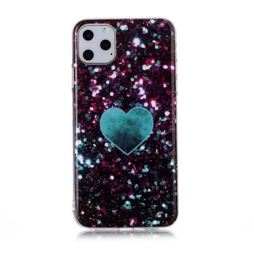 TPU Case Glitter Glamour met hart voor iPhone 11 Pro
