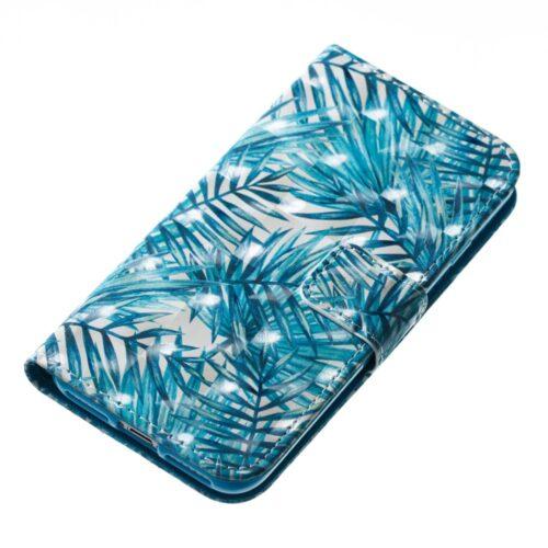 Book case voor iPhone SE2020 / 8 / 7 / 6 – bladeren -groen