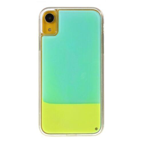iPhone X/XS backcase met lichtgevend bewegend effect – cyan