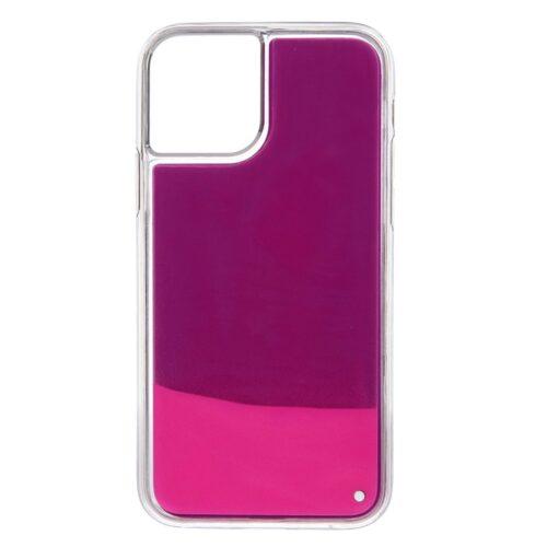 iPhone 11 backcase met lichtgevend bewegend effect – paars