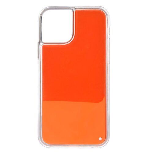 iPhone 11 backcase met lichtgevend bewegend effect – oranje