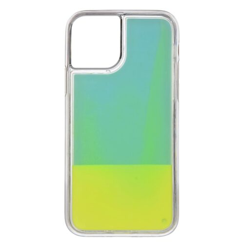 iPhone 11 backcase met lichtgevend bewegend effect – cyan