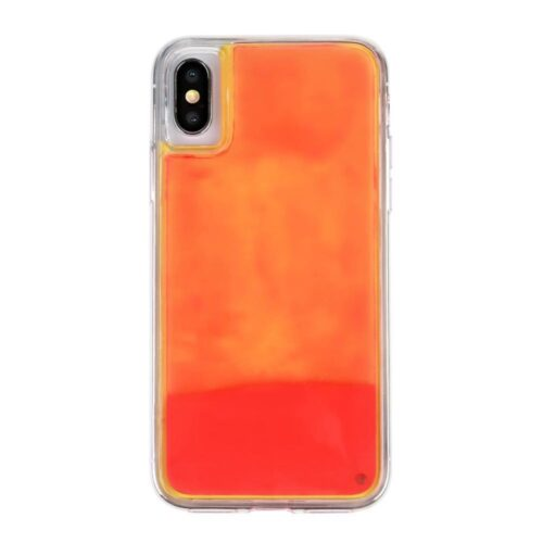iPhone X/XS backcase met lichtgevend bewegend effect – oranje