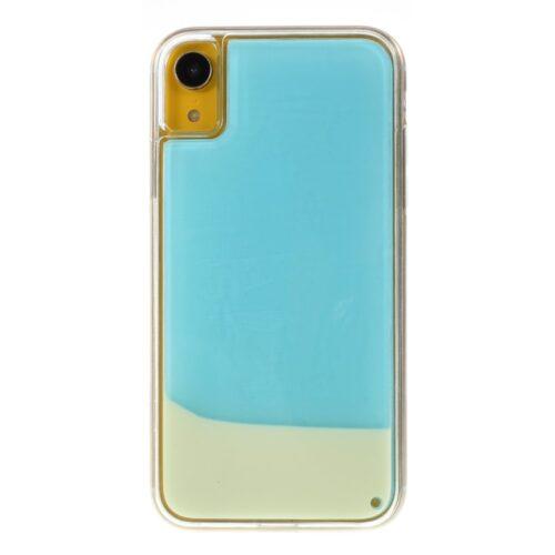 iPhone XR backcase met lichtgevend bewegend effect – lichtblauw