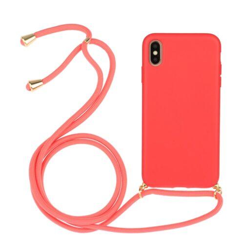 iphone x hoesje met koord rood