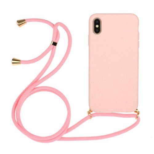 iphone hoesje met koord roze