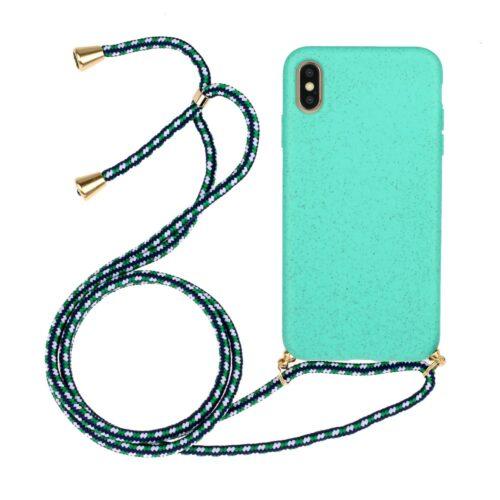 iphone xs hoesje met koord blauw