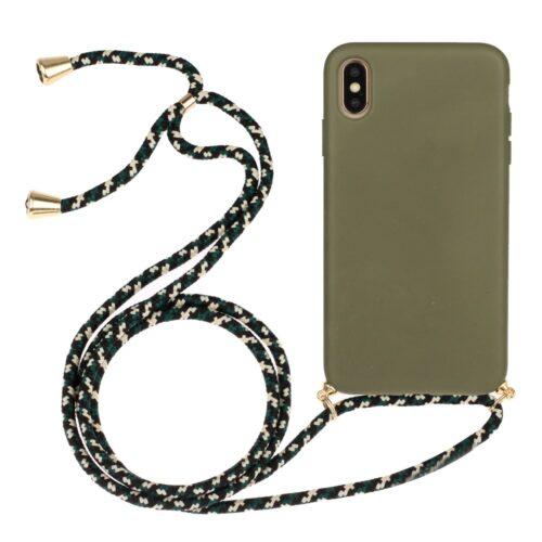 iphone xs hoesje met koord groen