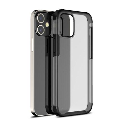 Mat iPhone 12 Pro Max hoesje – zwart