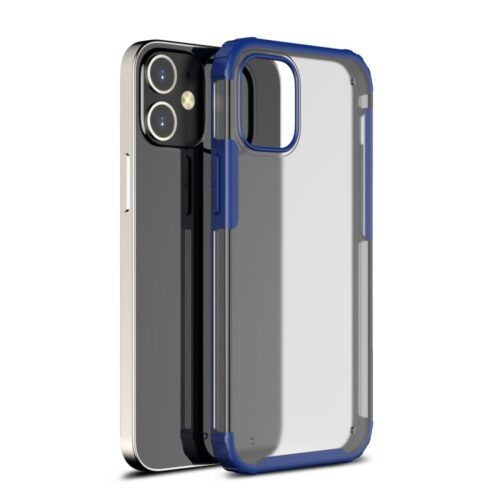 Mat iPhone 12 Pro Max hoesje – blauw