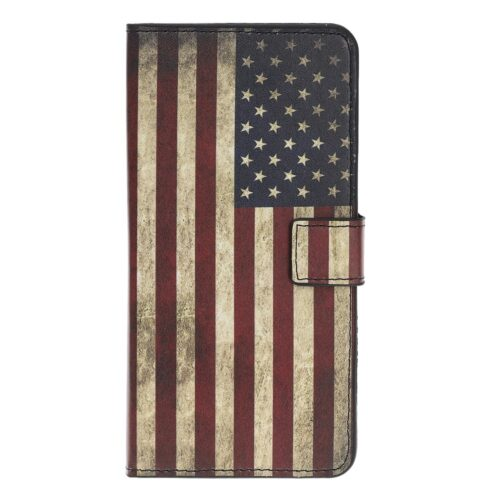Wallet Case met retro USA vlag – iPhone 12 mini
