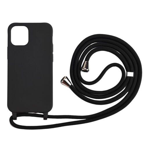 TPU hoesje met koord voor iPhone 12 Pro / iPhone 12