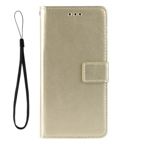 Vintage lederen Wallet Case voor iPhone 12 Pro Max – goud