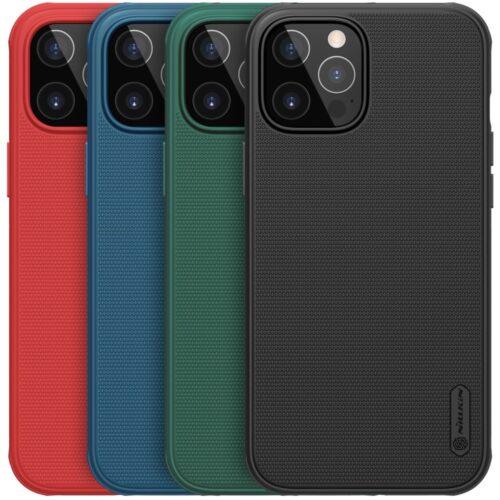 Nillkin Mat Plastic met TPU case voor iPhone 12 Pro / iPhone 12 – zwart
