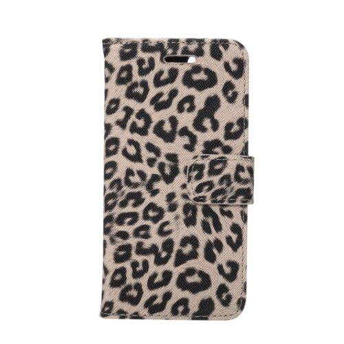 iPhone 7 / 8 Wallet Book – Luipaardprint – Bruin
