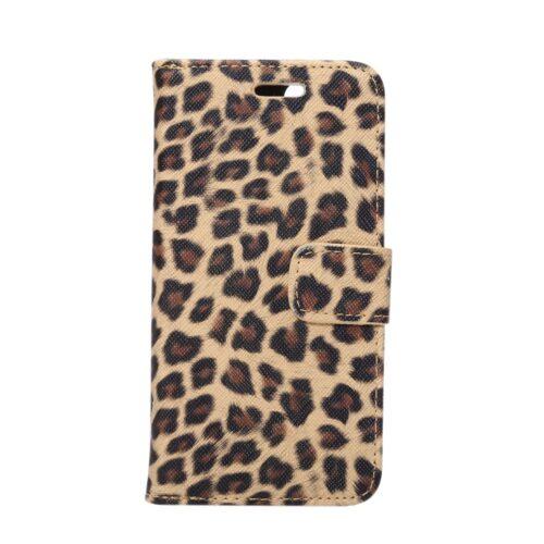 iPhone 7 / 8 Wallet Book – Luipaardprint – Wit