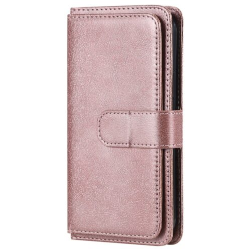 Multifunctionele iPhone 12 Pro / iPhone 12 Wallet case – roségoud