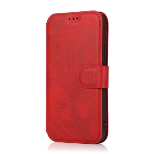 Retro lederen wallet case voor iPhone 12 / iPhone 12 Pro