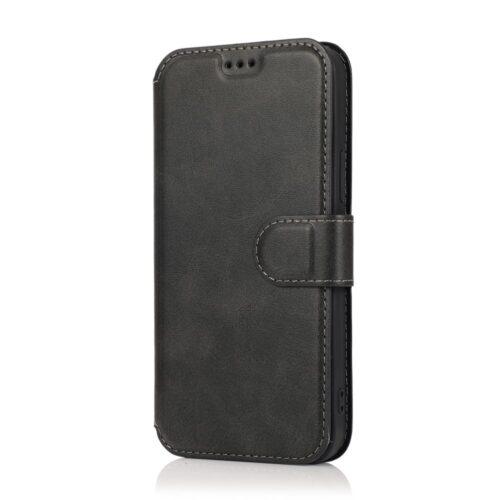 retro wallet case iphone12 zwart